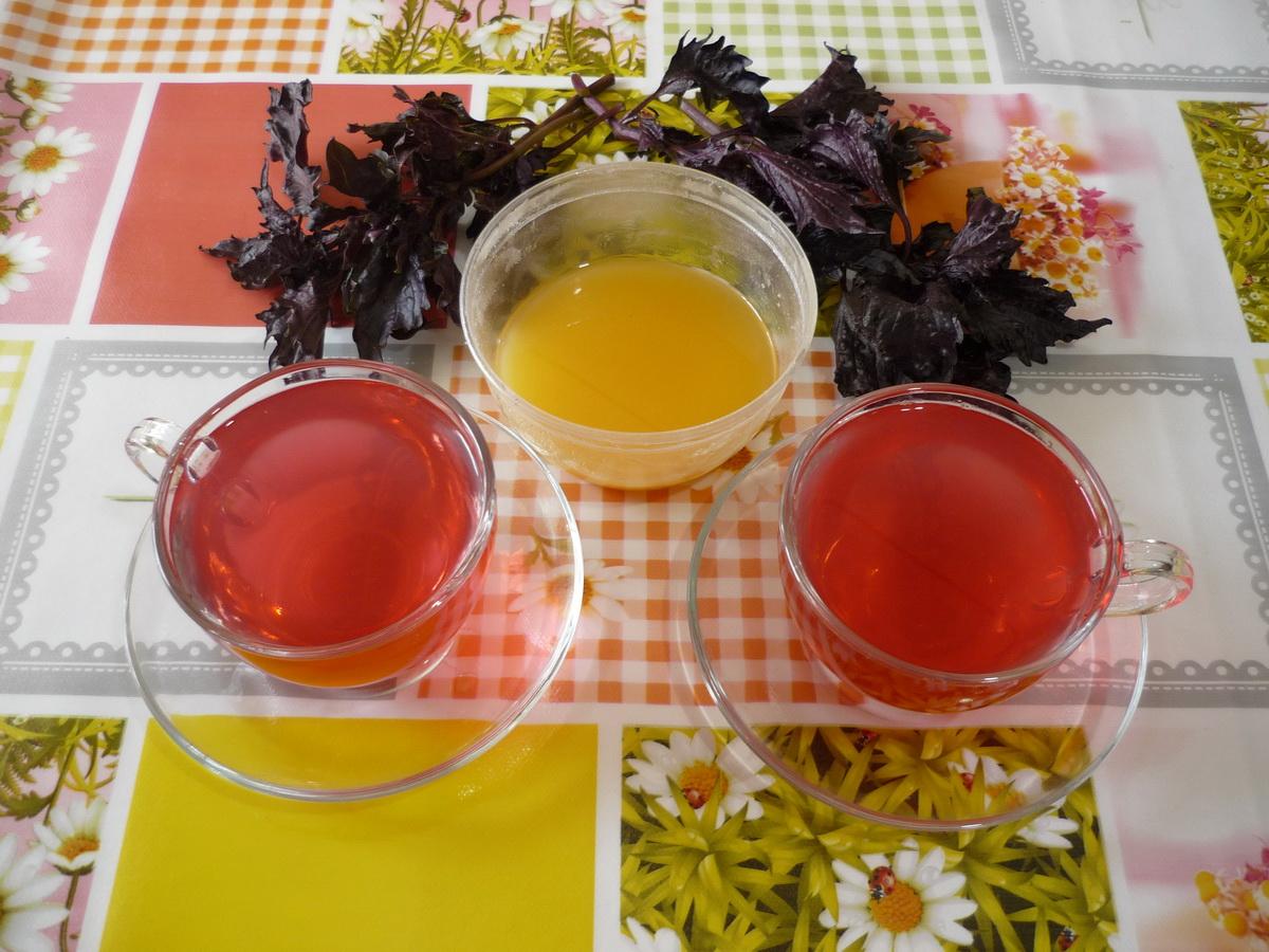Базиликовый чай с медом