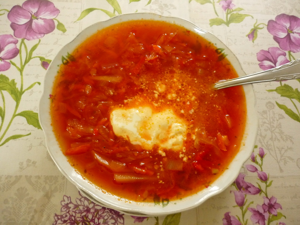 Борщ Дивской  кулинарный рецепт