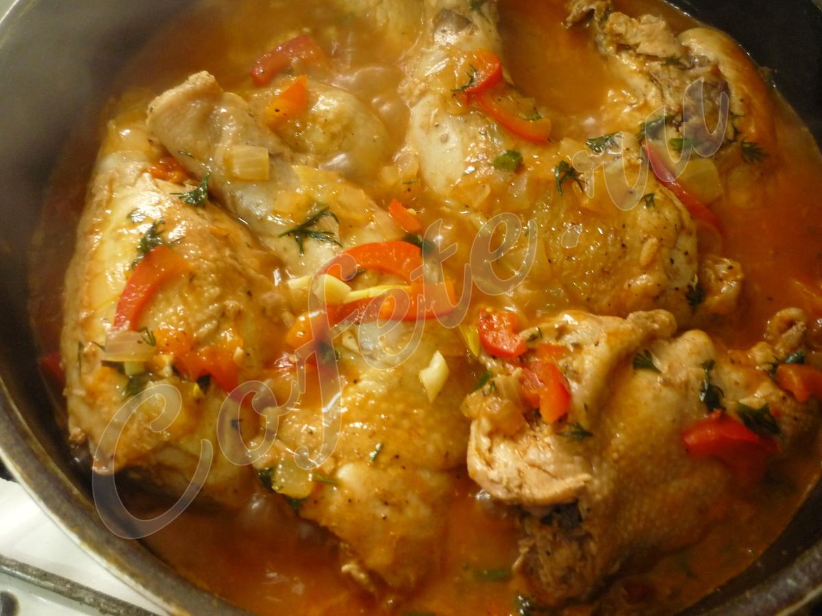 Чахохбили из курицы пошаговый рецепт без фото
