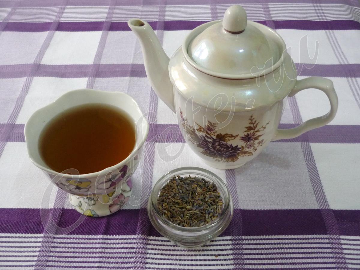 Чашка чая из Лаванды