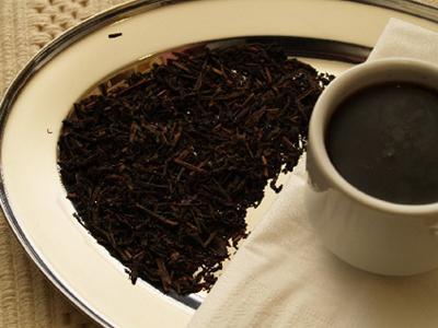 Чай Чёрный на тарелке