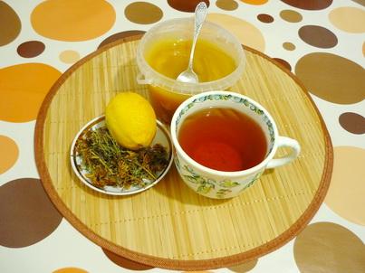 Чай, мёд и лимон