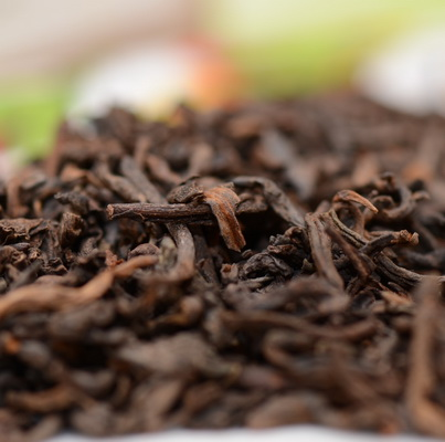 Чай Пуэр крупным планом
