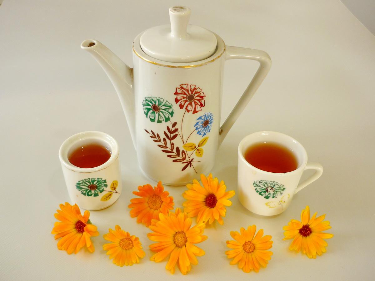 чай с календулой от аллергии