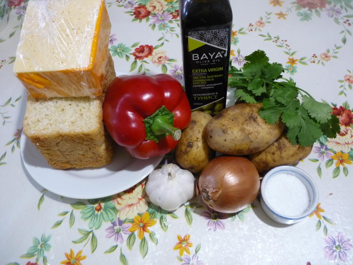 Чешский чесночный суп. Ингредиенты