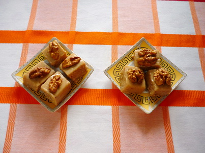 Десерт с грецкими орехами