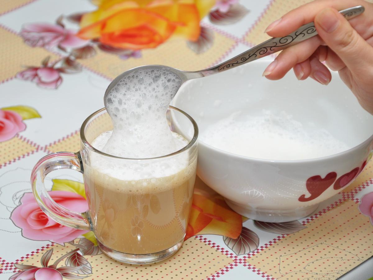 Взбитое молоко как сделать