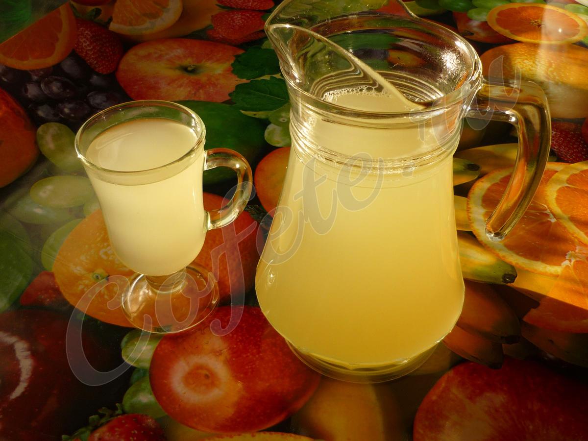 Готовый имбирный лимонад