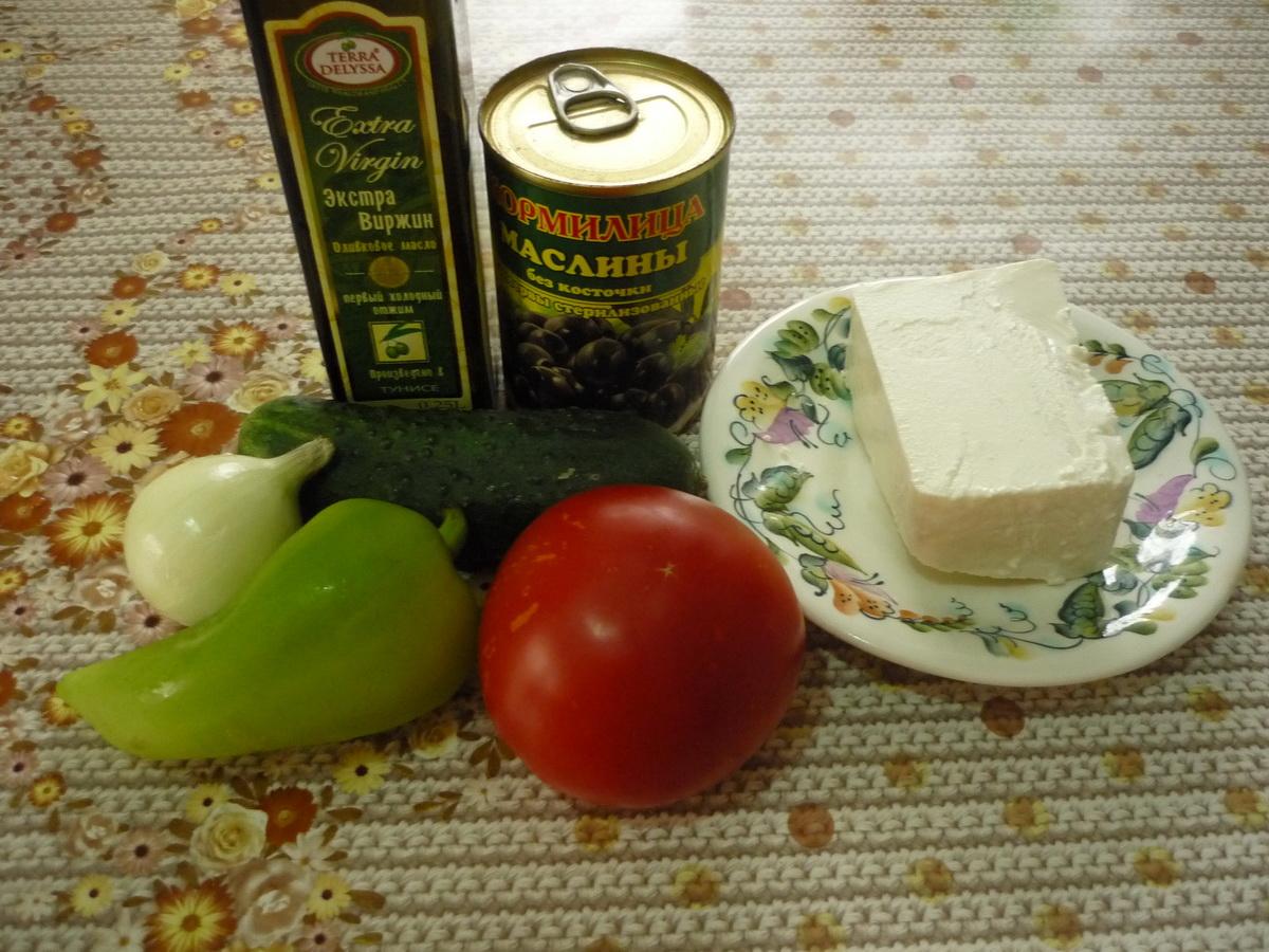Греческий салат. Ингредиенты
