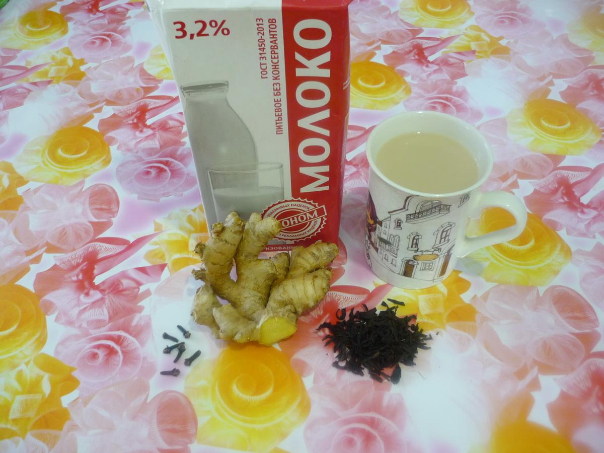 Гвоздичный чай с молоком и имбирем