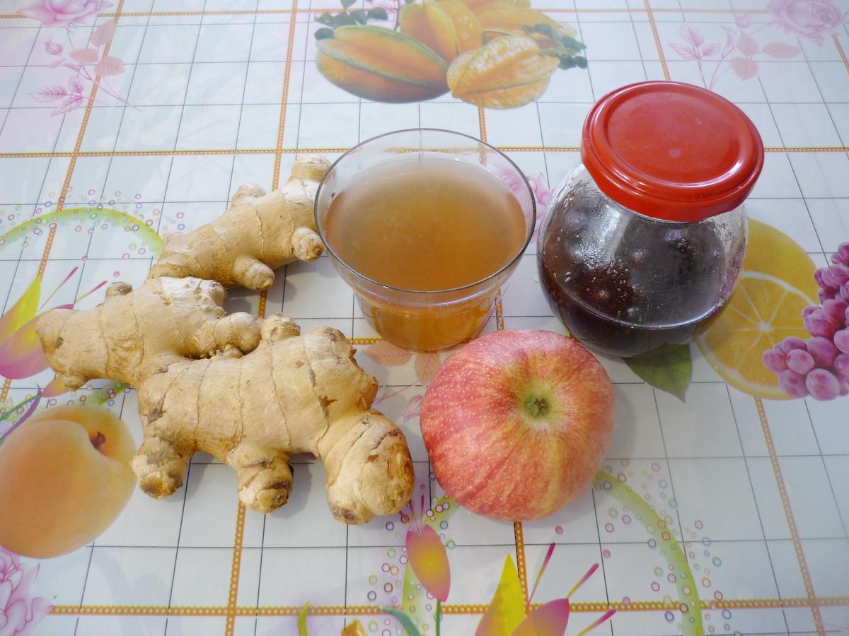 Имбирный чай от простуды готов