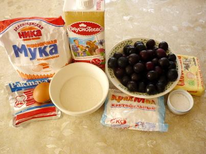 Ингредиенты алычового пирога