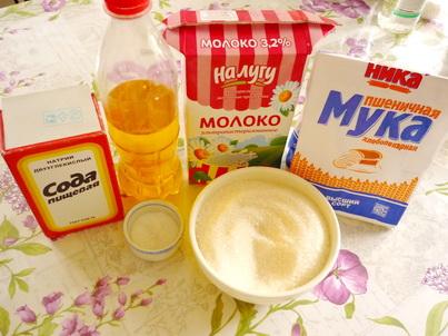Ингредиенты домашних блинов