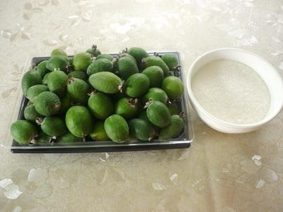 Ингредиенты десерта из фейхоа