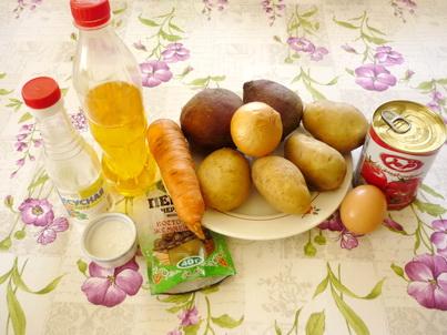 Ингредиенты горячего свекольника