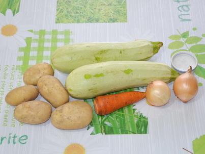 Ингредиенты кабачкового супа-пюре