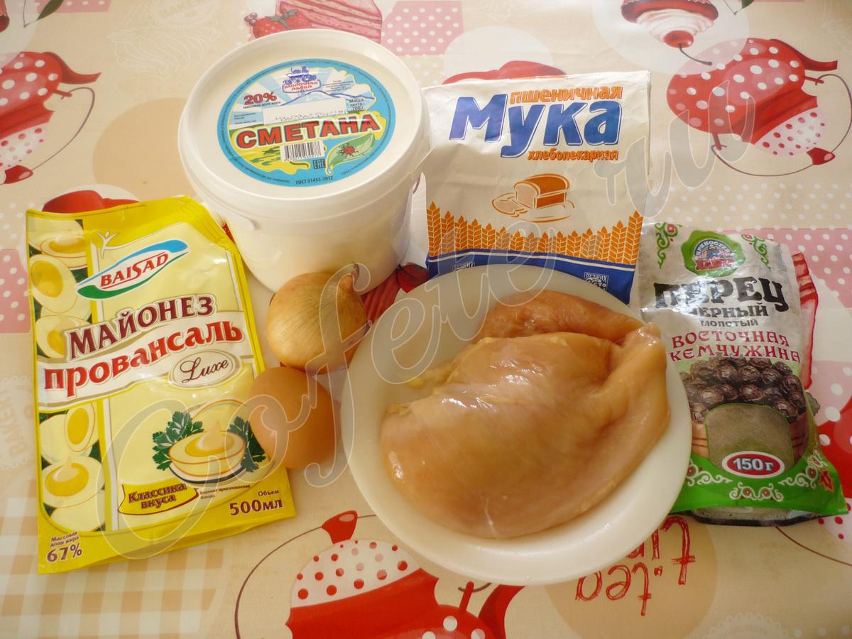 Ингредиенты куриных отбивных