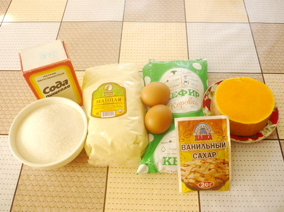 Ингредиенты манника с тыквой