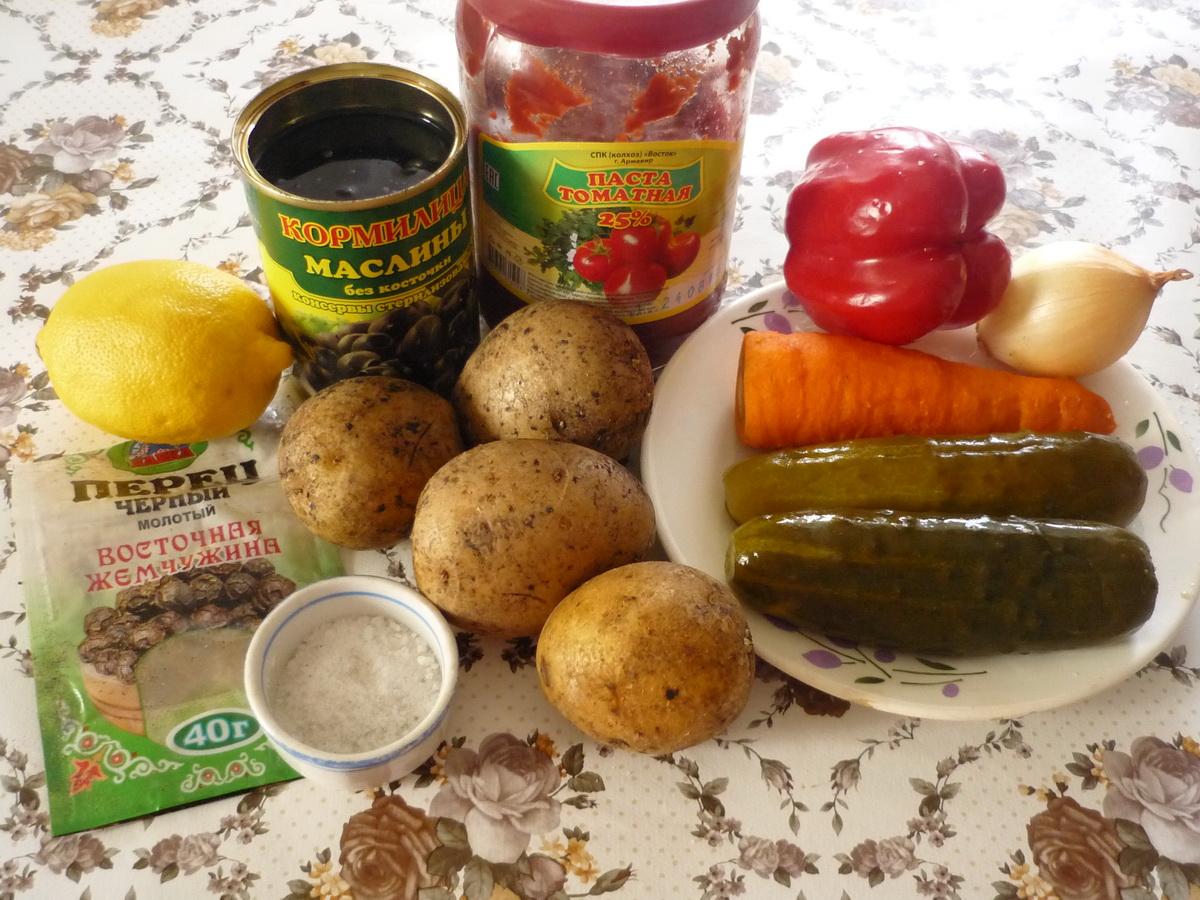 Ингредиенты овощной солянки