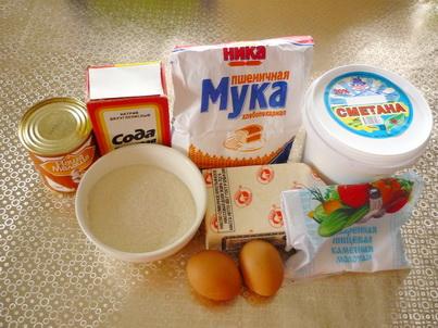 Ингредиенты печенья Персики