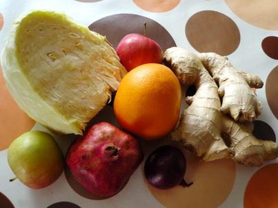 Ингредиенты салата с гранатовыми зёрнами