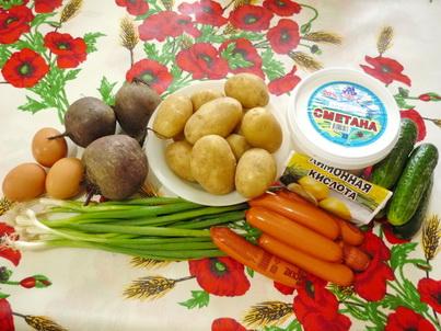 Ингредиенты холодного свекольника