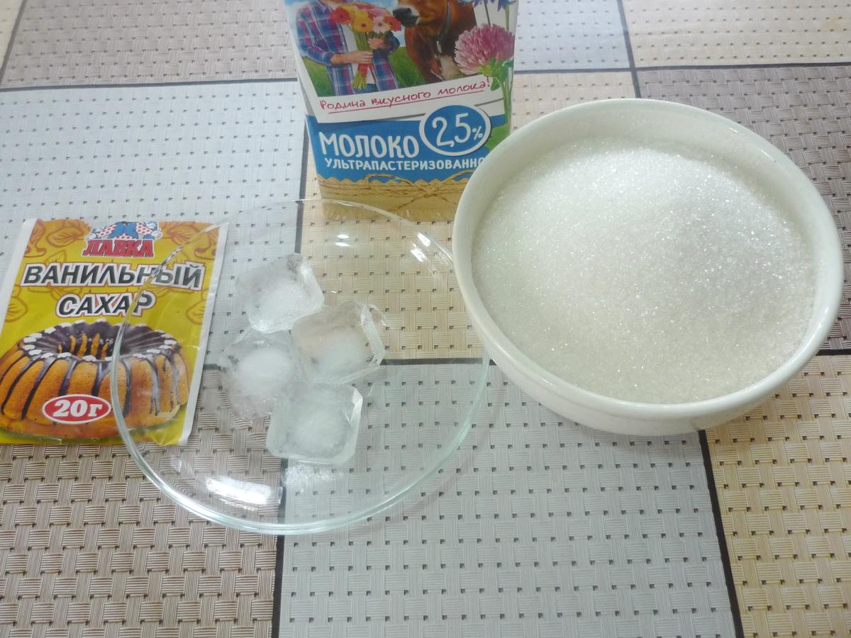 Ингредиенты ванильного коктейля