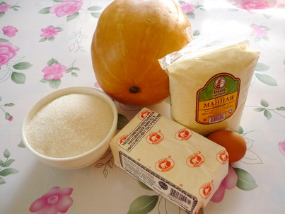 Ингредиенты запеканки из тыквы в духовке