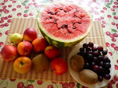 Ингредиенты фруктового салата