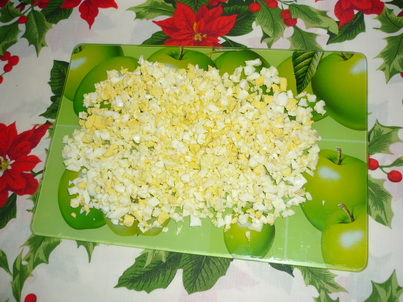 Измельчённые сваренные яйца