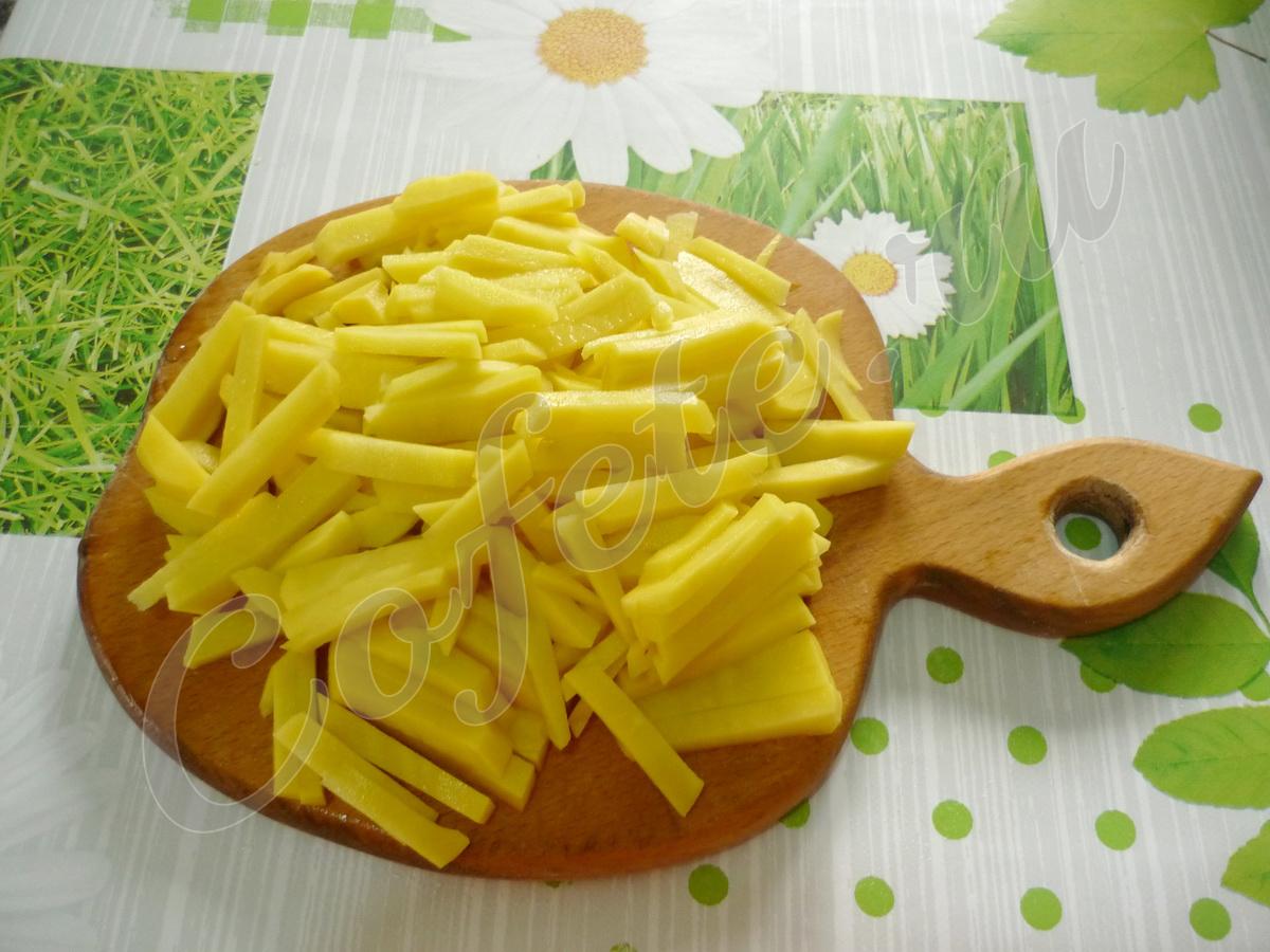 Режем картошку для супа