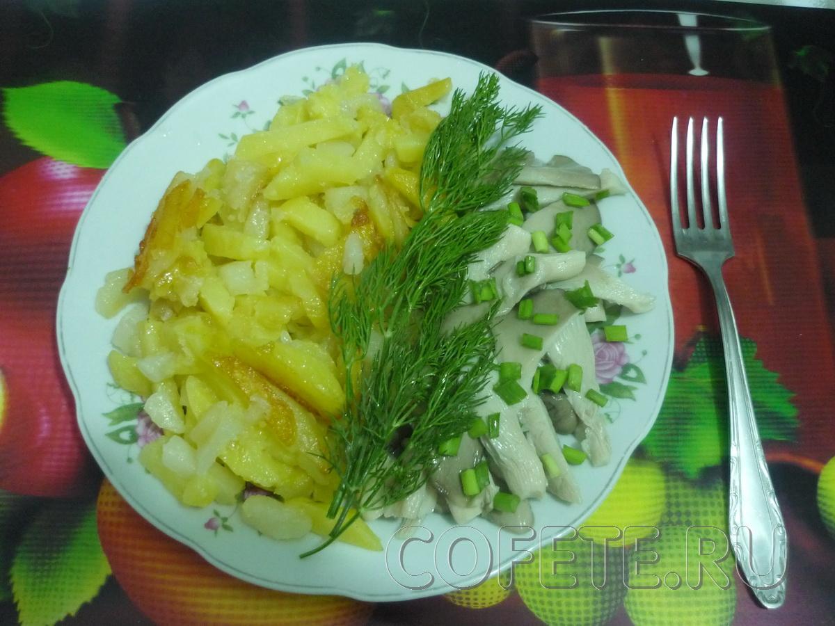 Жареная картошечка с маринованными грибочками