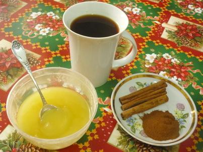 Кофе с мёдом и корицей