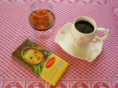 Кофе с коньяком и шоколадом