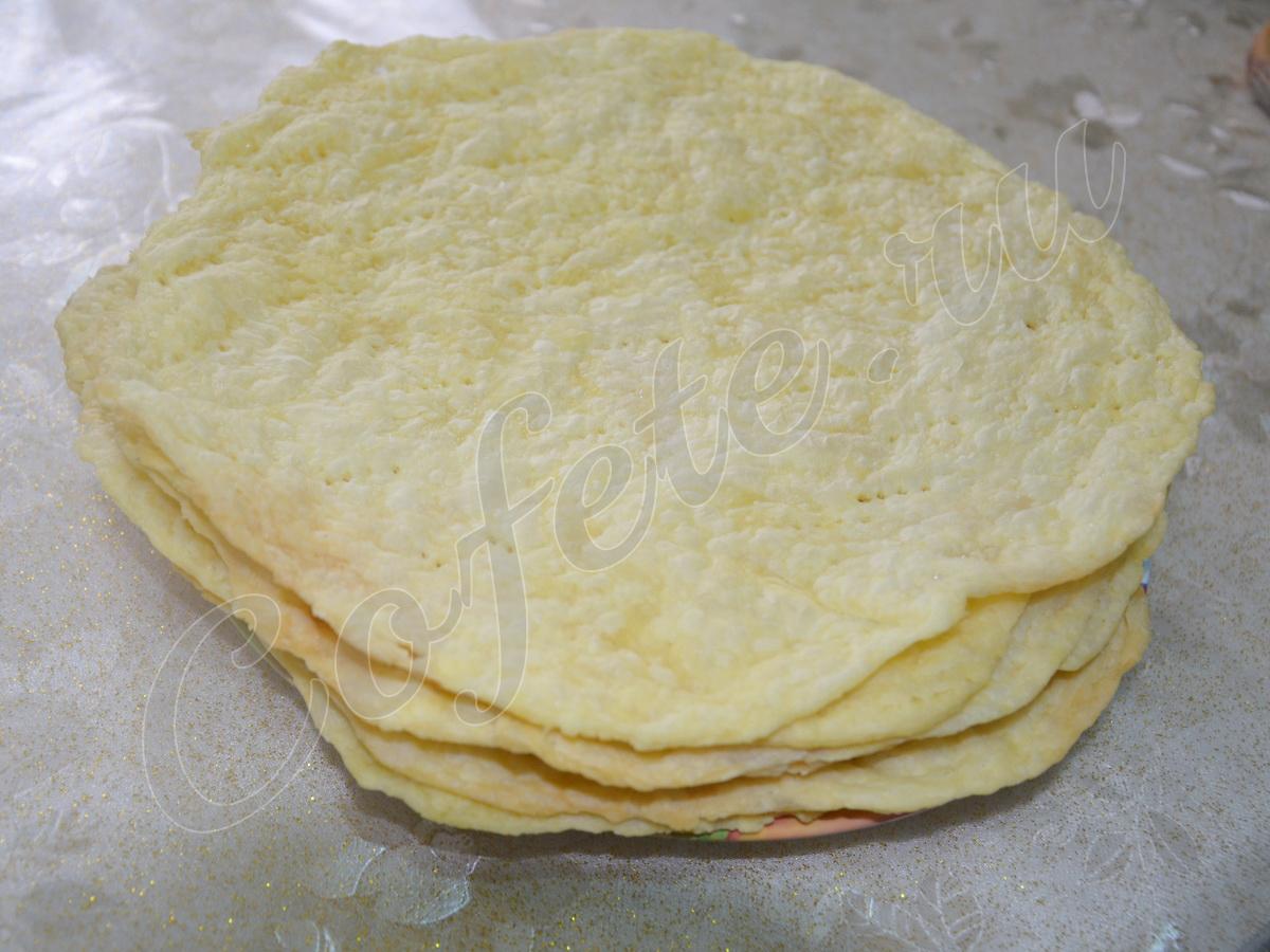 Румяные коржи торта