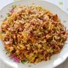 Красный рис с овощами