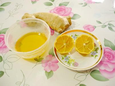 Мёд, лимон и корень имбиря
