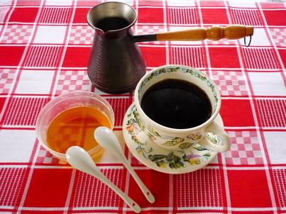 Натуральный кофе с мёдом