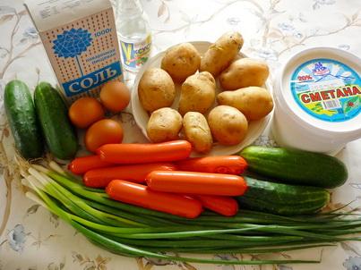 Ингредиенты Окрошки