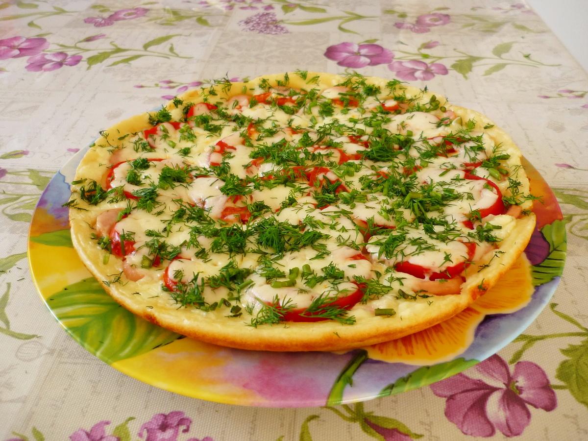 пицца без майонеза на сковороде рецепт с фото пошагово