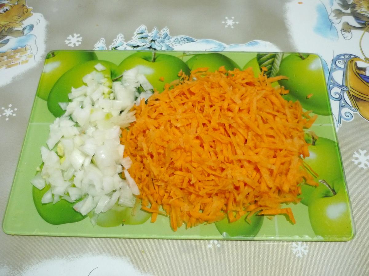 Подготовили овощи для зажарки