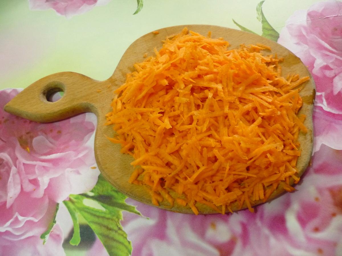 Подготовили морковь