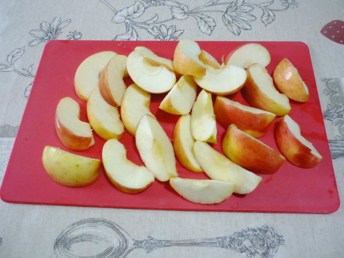 Порезали яблоки