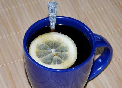 Чашечка кофе с лимончиком