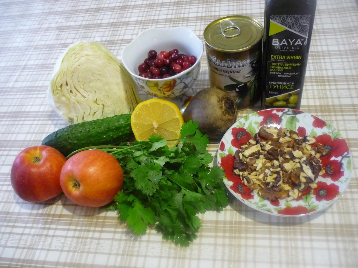 Рубиновый салат. Ингредиенты