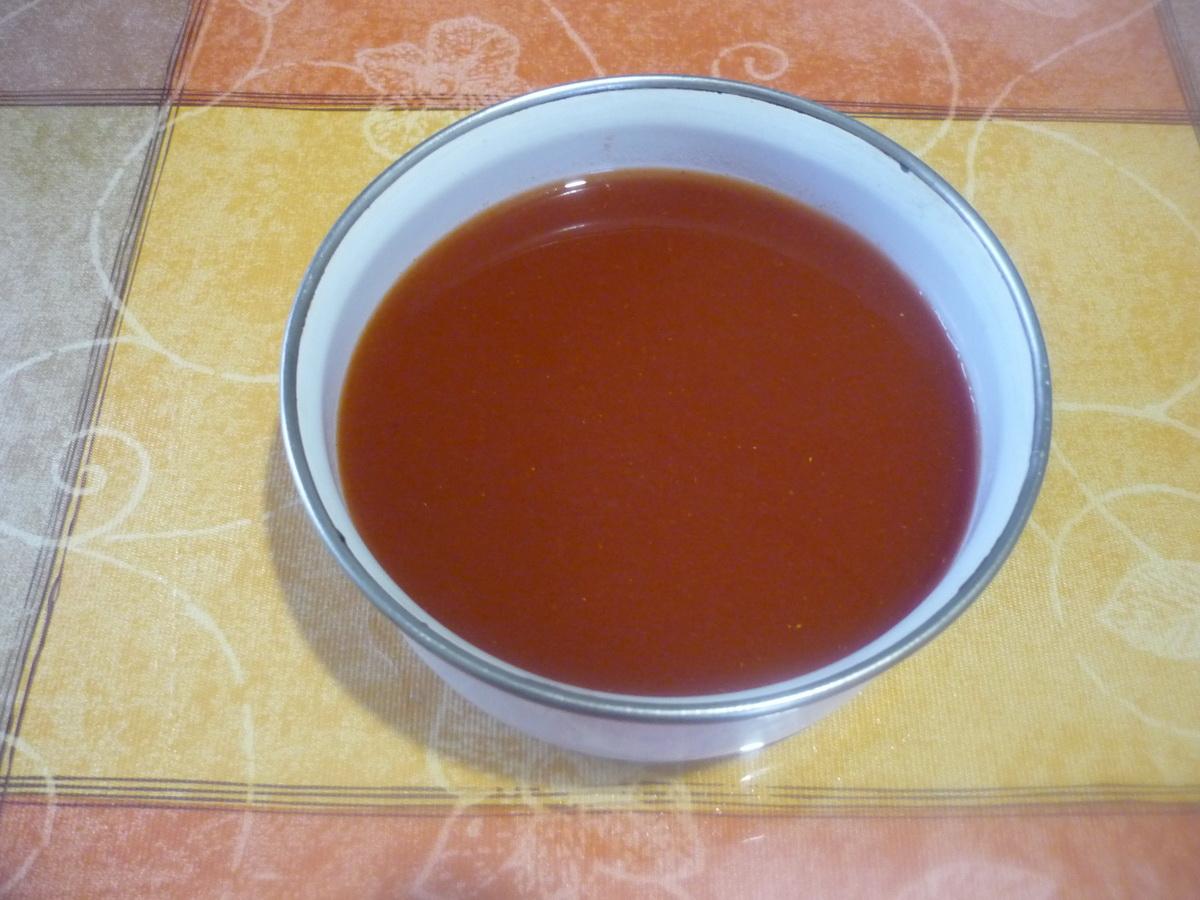Приготовили томатную заливку