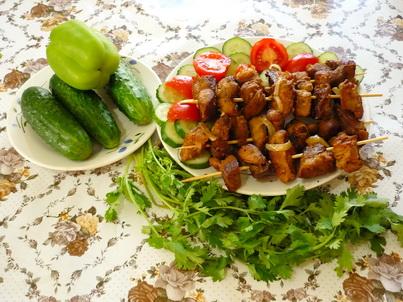 Шашлычки с овощами