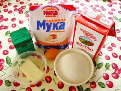 Ингредиенты шоколадного кекса из микроволновки