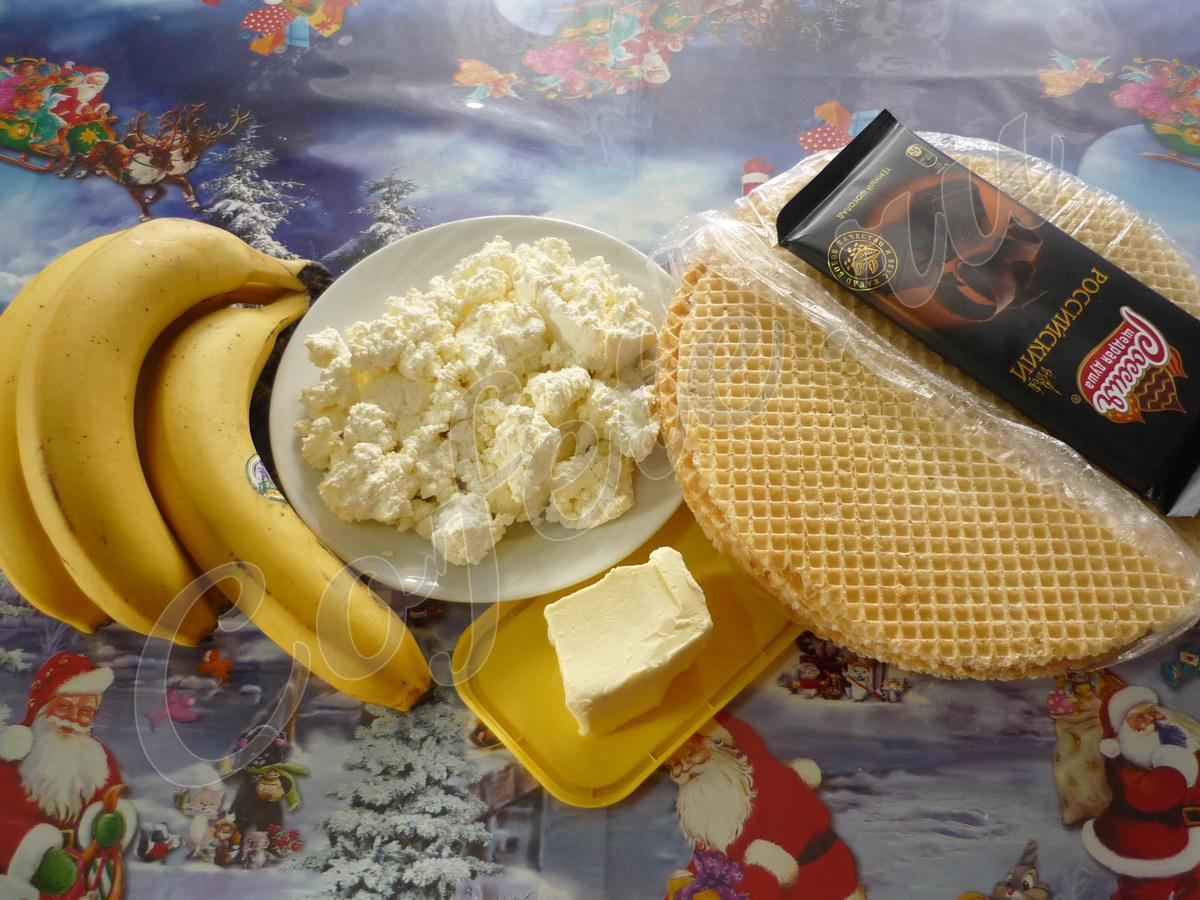 Состав бананового десерта