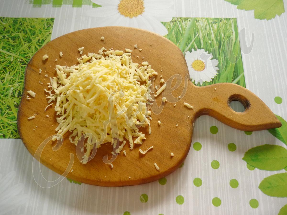Трём сыр через крупную тёрку